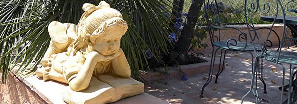Statue femme le bon vivre - Statue pierre reconstituee pour jardin ...