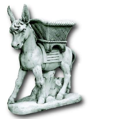 Statue grand ane avec panier le bon vivre for Ane decoration jardin