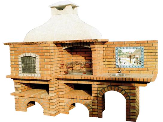 barbecue et fours pain avec plan de travail droite le bon vivre. Black Bedroom Furniture Sets. Home Design Ideas