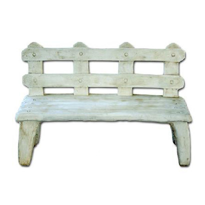 petit banc imitation bois le bon vivre. Black Bedroom Furniture Sets. Home Design Ideas