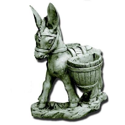 Statue petit ne charg de deux paniers amovibles le bon for Ane decoration jardin
