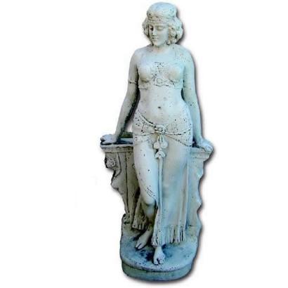 statue de jardin en pierre femme l gyptienne le bon vivre. Black Bedroom Furniture Sets. Home Design Ideas