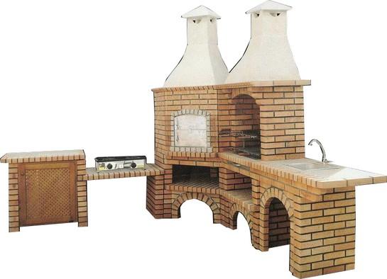 Barbecue et four pain avec meuble d 39 angle le bon vivre - Barbecue avec four a pain ...