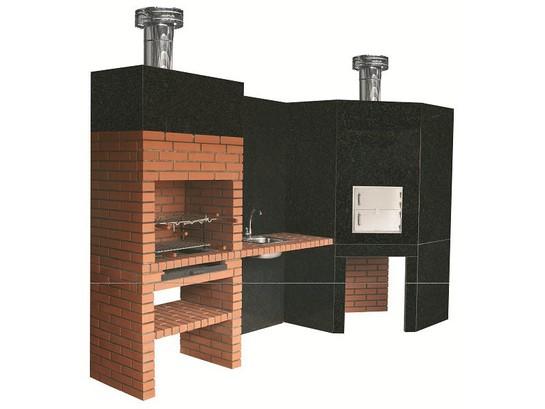 Barbecue et four pain style contemporain granit le bon for Barbecue contemporain exterieur