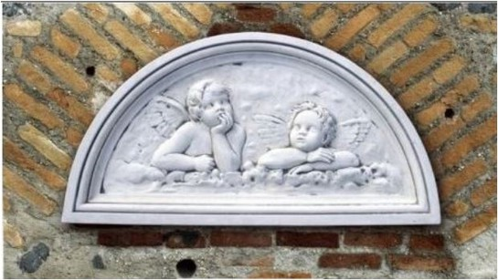 bas relief plaque murale en pierre raffaello le bon vivre. Black Bedroom Furniture Sets. Home Design Ideas