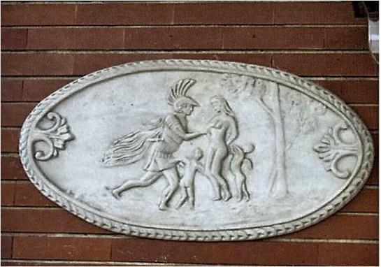Plaque murale bas relief en pierre les sabines le bon vivre for Plaque de decoration murale
