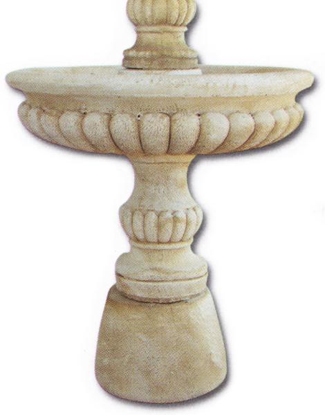 Fontaine en pierre vasque avec boule petit mod le le bon - Vase en pierre jardin ...