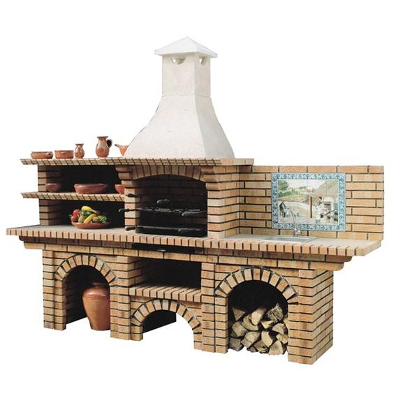 Barbecue en brique ch601 le bon vivre for Barbecue en brique plan