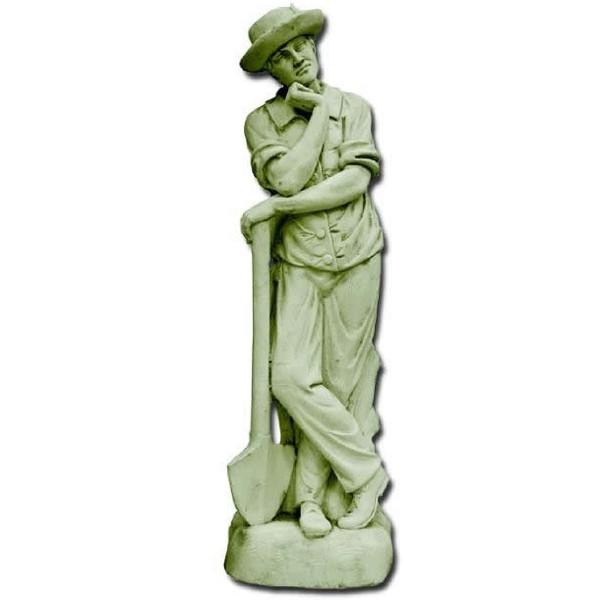 statue de jardin en pierre homme le jardinier pensif le bon vivre. Black Bedroom Furniture Sets. Home Design Ideas