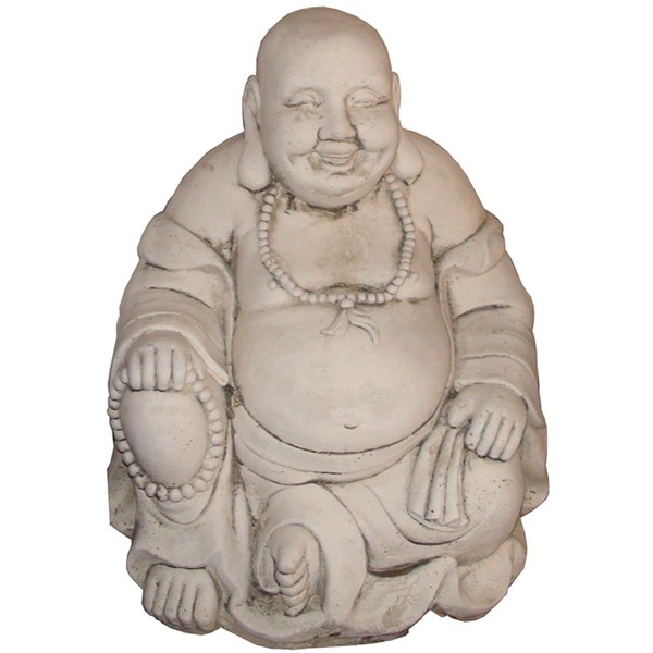 Statue bouddha rieur le bon vivre for Decoration jardin bouddha