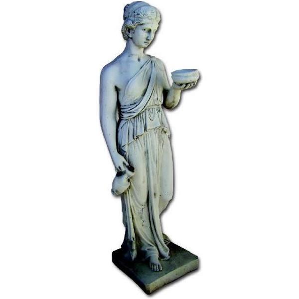 Statue de jardin en pierre femme ebe le bon vivre for Statue de jardin en pierre
