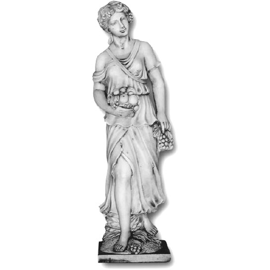 statue de jardin en pierre femme saison l 39 automne le bon vivre. Black Bedroom Furniture Sets. Home Design Ideas