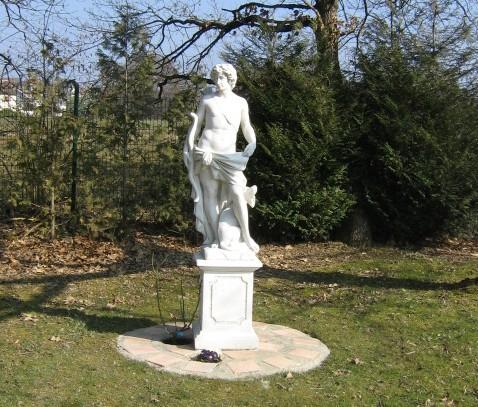 Statue de jardin en pierre dieu apollon le bon vivre - Vase en pierre jardin ...