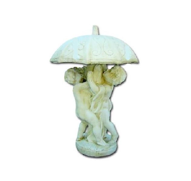 statue decoration de jardin en pierre enfants sous parapluie le bon vivre. Black Bedroom Furniture Sets. Home Design Ideas