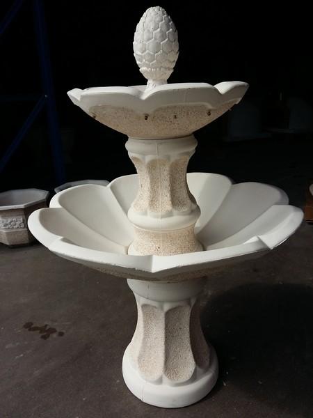 Fontaine en pierre 2 vasques fleurs le bon vivre - Fabrication d une fontaine de jardin ...