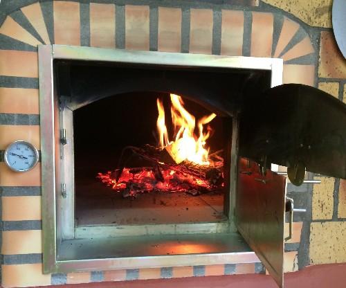 Four pain et pizza avec porte avaloir de fum e 140 cm - Boite a pain pour exterieur ...