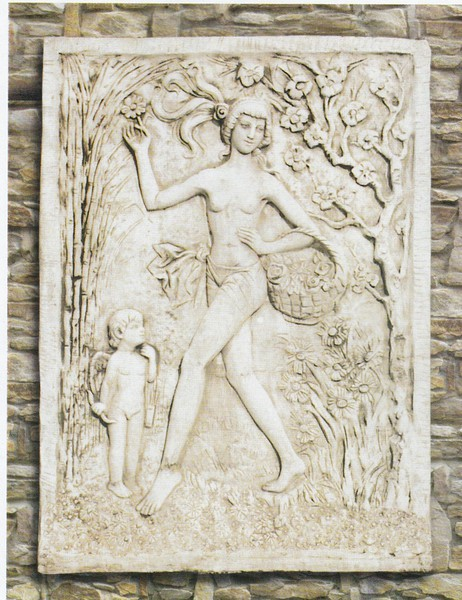 Plaque murale d corative en pierre le printemps le bon vivre - Plaque decorative murale ...