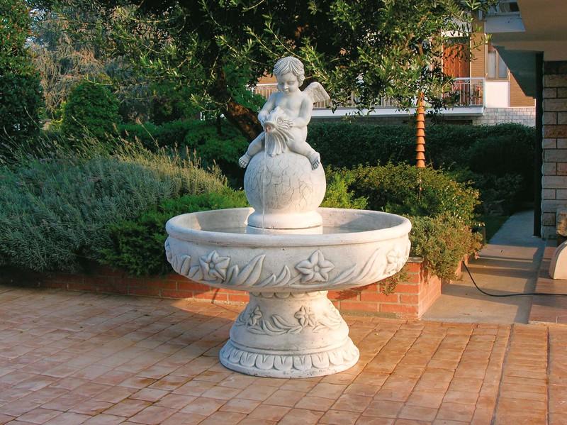 Fontaine en pierre reconstituée-avec vasque modèle-Jesolo ...