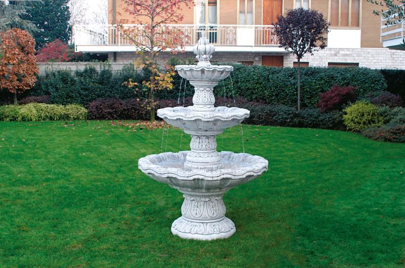Fontaine en pierre reconstituée-avec-vasque-modèle-Niagara- | Le bon ...