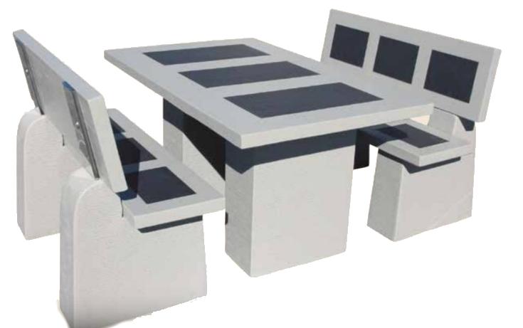 salon de jardin avec dossiers le bon vivre. Black Bedroom Furniture Sets. Home Design Ideas
